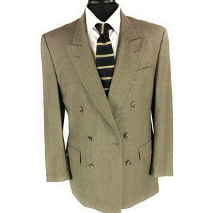JOS A. BANK Mens Double Breasted 100% Wool Blazer